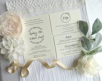 Wedding Invitation Suite - Style 03 - Garden COLLECTION Wedding Invitations     Wedding Invites    Invitation Set