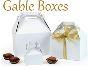 "White Gable Boxes,20  Gable Gift Box, Party Favor Box, 9 1/2"" x 5"" x 5""  Welcome Box, Wedding Favor Box Gable Box Party Favor Supplies"