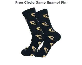 Circle Game Meme Socks Funny Socks Novelty Socks Christmas Socks Crazy Socks Happy Socks Fun Socks Fashion Socks Dress Socks Casual Socks