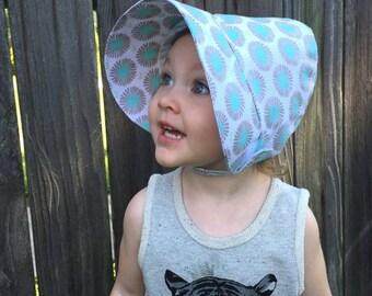 Baby Sun Bonnet / Classic Bonnet / Baby Bonnet / Newborn Baby Bonnet / Summer Bonnet / Spring Bonnet / Custom Fabric Choices / Cotton Bonnet