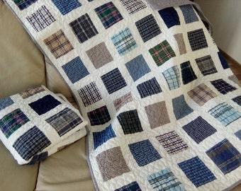 Memory Quilt / Shirt Memory Quilt / Memorial Quilt / Custom Clothes Quilt / T-shirt Quilt / Baby Clothes Quilt / Family Keepsake