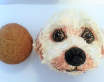 One sugar free Jumbo Dog Face Cupcake