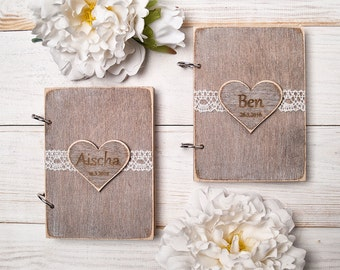 Bride and Groom Vows Book Wedding Vow Book Rustic Wedding Vow Books Wooden Wedding Book Set of 2 Bridal Shower Gift Wedding Ceremony