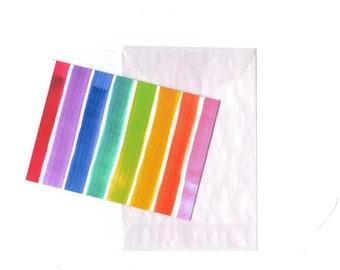 Rainbow Lovin' mini note cards (6)