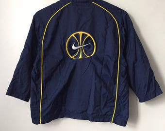 vintage nike team sports basketball windbreaker jacket boys size 8 small 90s