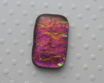 Dichroic Fused Glass Cabochon - Gem Stone - Cabochon Cab - Bead Supply- Glass Bead - Wire  - Jewelry Making - Stained Glass 4851
