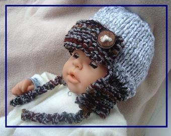 Hat Knitting PATTERN - Unisex AVIATOR or Beanie  Hat (Baby, Kids, Toddler, Child, Men, Women, Adult sizes) #633