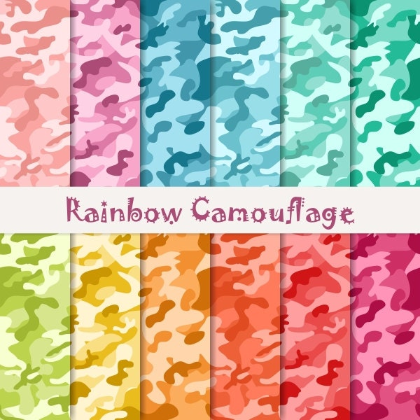 Buy 2 Get 1 Free Digital Rainbow Camouflage Patterns