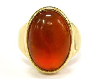 Amber 14K Gold Vintage Ring - X4089