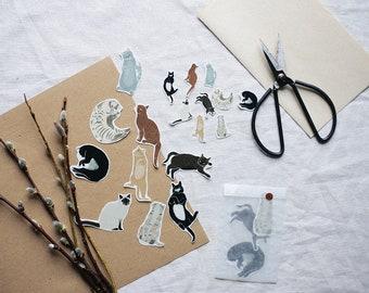 Cat Sticker - Transparentes Sticker Set