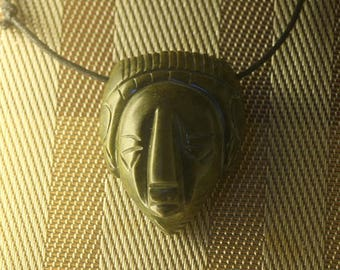 Mayan Sculpture Necklace (jade)