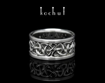 """Celtic silver ring, celtic ring, silver celtic ring. Sterling silver ring """"Celtic pattern. Cut"""" from Kochut collection."""