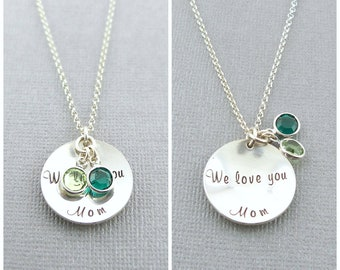Mothers Birthstone Necklace, Gift for Mom, Mother's Day Necklace,Nana Gift, Meemaw Gift, Mom Gift,Family,Personalized Jewelry