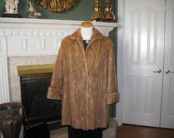 Vintage 50's Swing Mink Coat