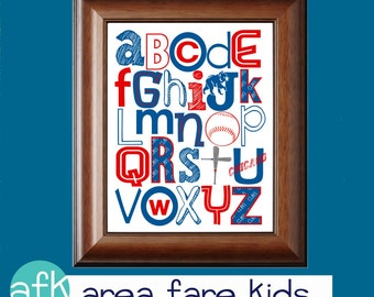 CHICAGO Cubs baseball ABC Nursery Art Print