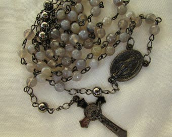 Striped Agate Rosary 6mm