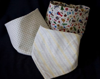 Baby Bandana Bibs - Set of 3 (as pictured) - Free Shipping