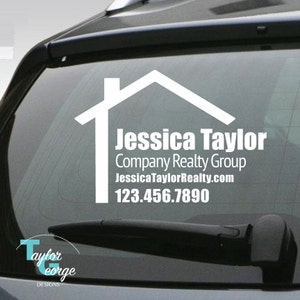 Real Estate Agent Car Decal - Custom Realty Decal - Realty Group Decal - Real Estate Vinyl Decal - Realty Sticker - Real Estate Marketing