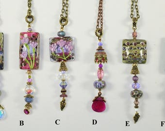 Assorted Pendants w/Lamp Worked Beads - Grp 1
