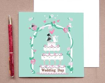 Mouse Wedding Card - Mouse Card - Mice Wedding Card - Cute Wedding Card - Mouse Engagement Card - Wedding Card