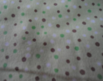 20 x 40 Receiving Blanket , poke a dots on green back ground