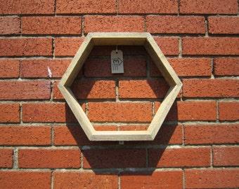 Hexagon Garden Shelf Unit - handmade in the UK from reclaimed wood
