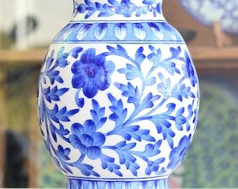 Handcrafted Decorative Jar - Jaipur Blue Pottery