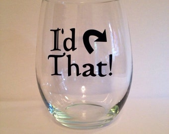 Magic: the Gathering I'd Tap That Stemless Wine Glass