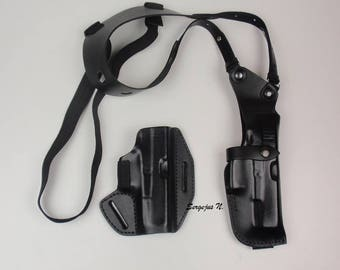 Glock 19;23;25;29;30;32;36;38 set of leather holsters