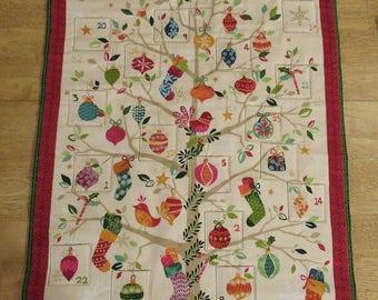 Christmas Advent Calendar - Pear Tree on Off-white