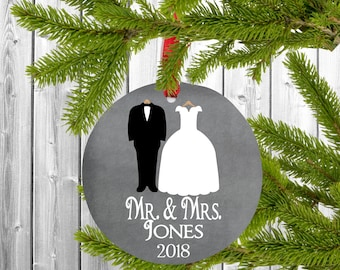 First married christmas ornament, First Christmas married ornament, First Christmas ornament married, Mr and Mrs Ornament, Bride and Groom