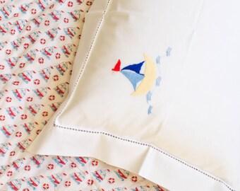 Sailing Boat Baby Pillowcase
