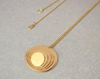Unique necklace, Pendant necklaces for women, Womens necklace, Gold pendant necklace, Statement necklace, Sculptural pendant necklace