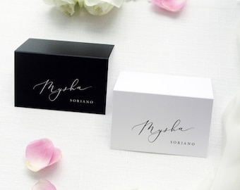 Adlin Black and White Place Cards, Printable Place Cards or Printed Place Cards Calligraphy Place card Tented Cards Name Tag
