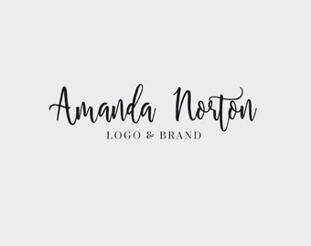 Logo, Logo Design, Custom Logo, Professional logo, Premade Logo, Blog Header, Blog Logo, Business Logo, Photography Logo, Calligraphy Logo