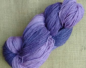 "Hand dyed British Bluefaced Leicester / bamboo sock yarn in ""Olympus"""
