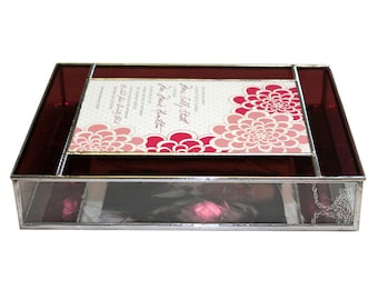 Stained Glass Single Border Wedding Invitation Box