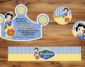 18 snow white crown invitation also  tags label party birthday english or spanish