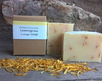 Lemongrass & Ginger Soap, Palm oil free, Cold process soap, Vegan