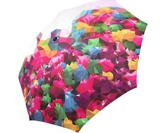 Pink Umbrella Colorful Umbrella Designed Umbrella Geometric Pattern Umbrella Rainbow Umbrella Photo Umbrella Automatic Abstract Umbrella