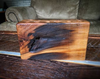 Reclaimed Wood Block Pen/pencil Holder