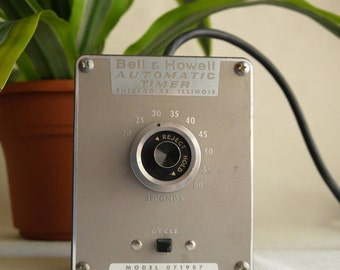Bell & Howell Projector Automatic Timer, Model 071987, Adjustable Knob Timer, MCM Photography Equipment