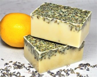 Goat Milk Soap | Lavender, honey, lemon | natural | bath soap |moisturizing |relief for skin issues| Bar soap | eczema