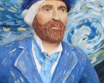 Vincent Van Gogh Clay Sculpture