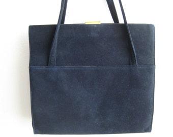 Black Suede Vtg Bag by Koret