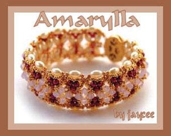 Beading Tutorial - Amarylla bracelet - Triangle weave