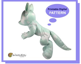 PATTERN - Floppy Chibi Anthro Plush