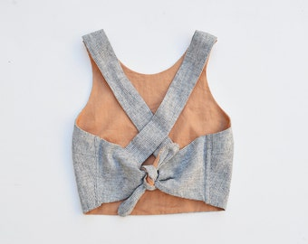 RESERVED FOR ASHLEIGH/ Reversible Cross Back Tie Tank Top