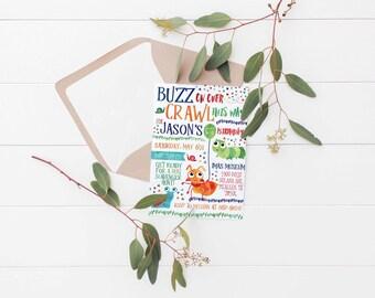 Printable Bugs Kids Birthday Invitation