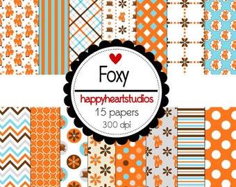 Digital Scrapbooking Foxy-INSTANT DOWNLOAD
